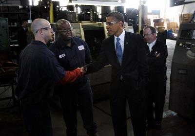 Барак Обама. Рукопожатие